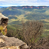Lincoln&rsquo;s Rock in Wentworth Falls in Blue Mountains, Australia<br />