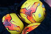 Practice footballs ttduring the Sky Bet League 2 match between Notts County and Leyton Orient at Meadow Lane, Nottingham, England on 20 February 2016. Photo by Jon Hobley.