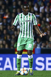 February 28, 2019 - Valencia, Spain - William Silva de Carvalho of Real Betis Balompi During Spanish King La Copa match between  Valencia cf vs Real Betis Balompie Second leg  at Mestalla Stadium on February 28, 2019. (Photo by Jose Miguel Fernandez/NurPhoto) (Credit Image: © Jose Miguel Fernandez/NurPhoto via ZUMA Press)