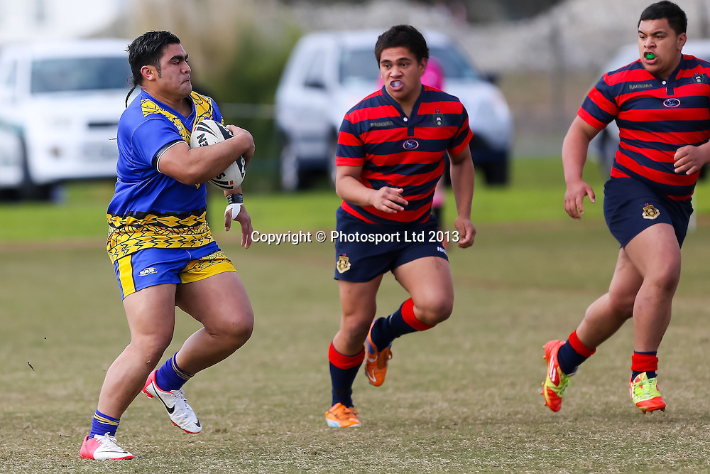 James Cook's Julius Westerlund, Rotorua Boys v James Cook High School, National Secondary Schools Rugby League - Day 3, 4 September 2013. Photo: David Joseph / photosport.co.nz