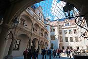 Residenzschloss, Kleiner Schlosshof mit Glaskuppel, Dresden,  Sachsen, Deutschland.|.Dresden, Germany, Residence Castle, small court with glass dome