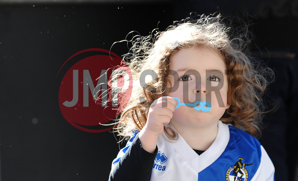 Bristol Rovers fan - Photo mandatory by-line: Dougie Allward/JMP - Mobile: 07966 386802 - 31/03/2015 - SPORT - Football - Bristol - Memorial Stadium - Vanarama Football Conference - Bristol Rovers Open Training Session