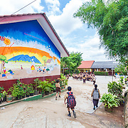 CAPTION: A mural on the wall at SDN 1 School shows the causes and effects of climate change. LOCATION: SDN 1 School, Langkapura, Bandar Lampung, Indonesia. INDIVIDUAL(S) PHOTOGRAPHED: N/A.