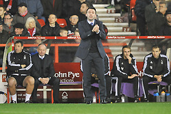 Dougie Freedman Manager Nottingham Forest, Nottingham Forest v Leeds United, Sky Bet Championship, City Ground, Sunday 27th December 2015