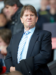 LIVERPOOL, ENGLAND - Saturday, October 20, 2012: Reading's Chairman John Madejski during the Premiership match against Liverpool at Anfield. (Pic by David Rawcliffe/Propaganda)