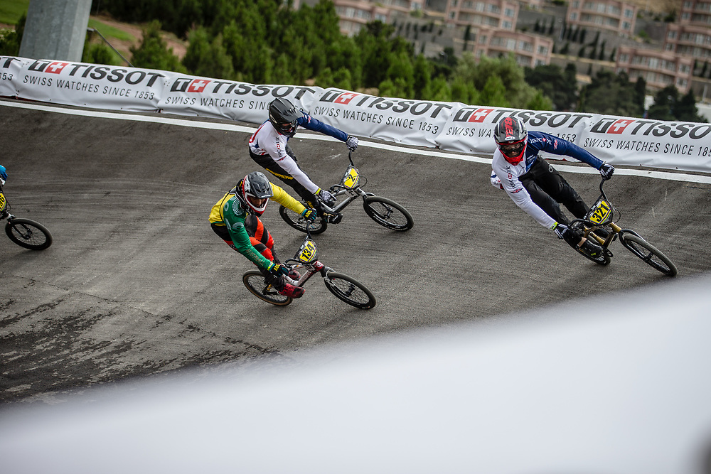 25-29 Men #321 (STRICKLAND Calum) GBR during practice at the 2018 UCI BMX World Championships in Baku, Azerbaijan.