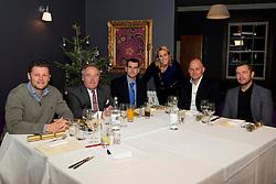 Steve Cotterill, Keith Burt, Andreas Kapoulas, Lisa Knights, Andy Robinson, Sean Holley - Photo mandatory by-line: Joe Meredith/JMP - Mobile: 07966 386802 - 03/12/2014 - Bristol Sport Christmas Lunch - Bristol - Gold Brick House