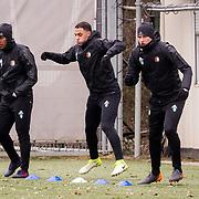 NLD/Rotterdam/20180301 - Training Feyenoord voor de bekerfinale, Renato Tapia, .......... en Sofyan Amrabat