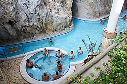 November 11, 2016 - Miskolc, Hungary - The Cave bath of Miskolctapolca in Miskolc, Hungary, on 11 November 2016. The Cave bath of Miskolctapolca is unique in Europe, the baths with hot termal water, made in natural caves. People walk and swim in kind of canals made in the caves and enjoy hot therapeutic water. (Credit Image: © Michal Fludra/NurPhoto via ZUMA Press)