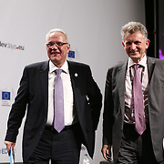 04 June 2015 - Belgium - Brussels - European Development Days - EDD - Closing Panel - From development aid to international Cooperation - Neven Mimica , EU Commissioner for International Cooperation and Development - Jean-Marc Chataigner , Deputy Executive Director , Institut de Recherche pour le Développement (IRD) © European Union