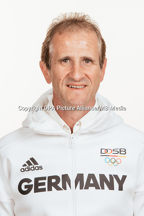 Ulf Tippelt poses at a photocall during the preparations for the Olympic Games in Rio at the Emmich Cambrai Barracks in Hanover, Germany, taken on 18/07/16 | usage worldwide