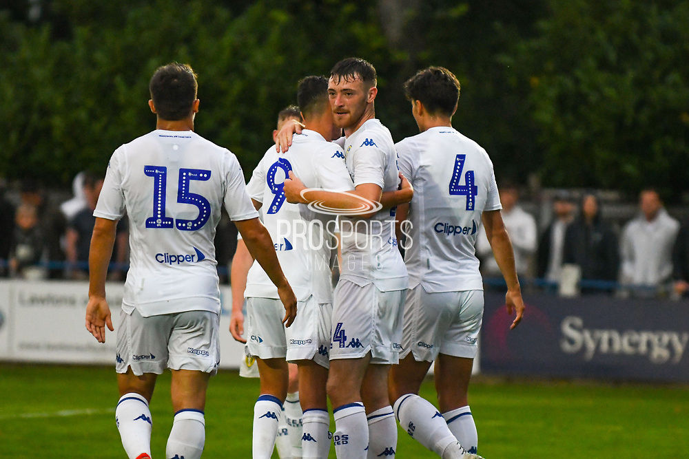 Leeds United Ryan Edmondson (14) scores a hat-trick goal and celebrates to make the score 1-5during the Pre-Season Friendly match between Tadcaster Albion and Leeds United at i2i Stadium, Tadcaster, United Kingdom on 17 July 2019.