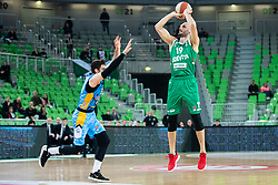 Marko Simonovic of KK Cedevita Olimpija during basketball match between KK Cedevita Olimpija and KK Sixt Primorska in Round #17 of ABA League 2019/20, on January 26, 2020 in Arena Stozice, Ljubljana, Slovenia. Photo By Grega Valancic / Sportida