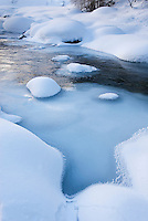 The Robson River in winter, Mount Robson Provincial Park British Columbia Canada