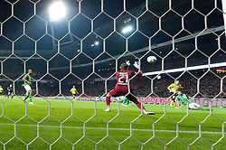 14.10.2011, Weser Stadion, Bremen, GER, 1.FBL, Werder Bremen vs Borussia Dortmund, im Bild.0:1 durch Ivan Perisic (Dortmund #14) gegen Sebastian Mielitz (Bremen #21) .// during the Match GER, 1.FBL, Werder Bremen vs Borussia Dortmund on 2011/10/14,  Weser Stadion, Bremen, Germany..EXPA Pictures © 2011, PhotoCredit: EXPA/ nph/  Kokenge       ****** out of GER / CRO  / BEL ******