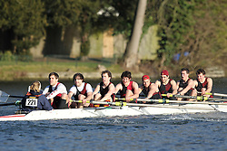 2012.02.25 Reading University Head 2012. The River Thames. Division 2. Bristol University Boat Club B Nov 8+