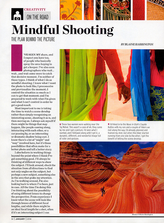 """Blaine Harrington's column on travel photography """"On the Road"""" appears in the bi-monthly issues of Shutterbug Magazine."""