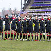21120413 - HARELBEKE, BELGIUM : team Belgium during the Second qualifying round of U17 Women Championship between Switzerland and Belgium on Friday April 13th, 2012 in Harelbeke, Belgium.