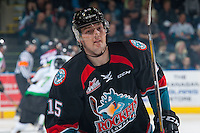 KELOWNA, CANADA - NOVEMBER 12: Tomas Soustal #15 of the Kelowna Rockets skates to the bench against the Prince Albert Raiders on November 12, 2016 at Prospera Place in Kelowna, British Columbia, Canada.  (Photo by Marissa Baecker/Shoot the Breeze)  *** Local Caption *** Tomas Soustal;