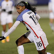Crystal Dunn, USA, in action during the USA Vs Colombia, Women's International friendly football match at the Pratt & Whitney Stadium, East Hartford, Connecticut, USA. 6th April 2016. Photo Tim Clayton