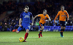 Jack Marriott of Peterborough United scores from the penalty spot to make it 3-0 - Mandatory by-line: Joe Dent/JMP - 20/01/2018 - FOOTBALL - ABAX Stadium - Peterborough, England - Peterborough United v Oldham Athletic - Sky Bet League One