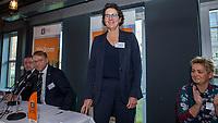 UTRECHT -  De nieuwe NGF President, Caroline Huyskes-Van Doorne met links aftredend president,Willem Zelsmann, rechts Judith Hermans-Van Hagen.  Algemene Ledenvergadering van de Nederlandse Golf Federatie NGF.   COPYRIGHT KOEN SUYK