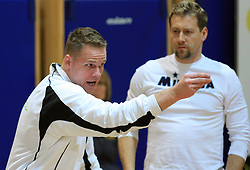 Coach of OK Vital Joze Casar and assistant coach Samo Belavic Pucnik at semifinal of 1st DOL volleyball match between OK Sloving Vital, Ljubljana and OK Nova KBM Branik, Maribor played in BIC center, on April 1, 2009, in Ljubljana, Slovenia. Nova KBM Branik won 3:1. (Photo by Vid Ponikvar / Sportida)