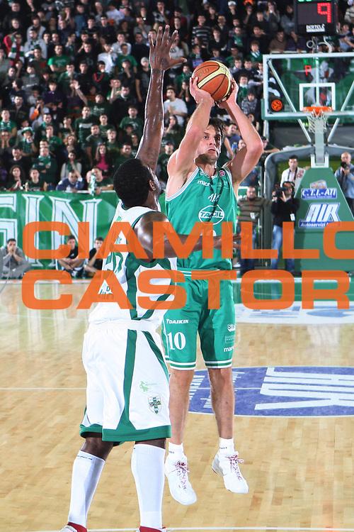 DESCRIZIONE : Avellino Lega A1 2008-09 Air Avellino Benetton Treviso<br /> GIOCATORE : Sandro Nicevic<br /> SQUADRA : Benetton Treviso<br /> EVENTO : Campionato Lega A1 2008-2009<br /> GARA : Air Avellino Benetton Treviso<br /> DATA : 24/01/2009<br /> CATEGORIA : Tiro <br /> SPORT : Pallacanestro<br /> AUTORE : Agenzia Ciamillo-Castoria/G.Ciamillo
