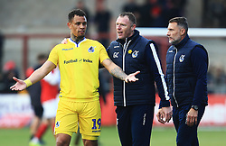 Bristol Rovers manager Graham Coughlan consoles Jonson Clarke-Harris of Bristol Rovers at full time - Mandatory by-line: Matt McNulty/JMP - 27/04/2019 - FOOTBALL - Highbury Stadium - Fleetwood, England - Fleetwood Town v Bristol Rovers - Sky Bet League One