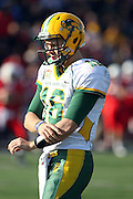 17 November 2012:  Brock Jensen during an NCAA Missouri Valley Football Conference football game between the North Dakota State Bison and the Illinois State Redbirds at Hancock Stadium in Normal IL