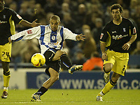 Photo: Aidan Ellis.<br /> Sheffield Wednesday v Birmingham City. Coca Cola Championship. 16/12/2006.<br /> Sheffield's Deon Burton lashes a shot wide