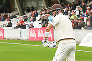 Kevin Pietersen of Surrey County Cricket Club comes to the crease during the LV County Championship Div Two match at the Kia Oval, London<br /> Picture by Mark Chappell/Focus Images Ltd +44 77927 63340<br /> 26/04/2015