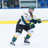 5th year forward Kylie Gavelin (13) of the Regina Cougars in action during the Women's Hockey home game on October 8 at Co-operators arena. Credit: Arthur Ward/Arthur Images