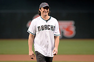 PHOENIX, AZ - APRIL 07:  American country music artist Joe Nichols smiles while throwing out the ceremonial first pitch for the MLB game between the Cleveland Indians and Arizona Diamondbacks at Chase Field on April 7, 2017 in Phoenix, Arizona.  (Photo by Jennifer Stewart/Getty Images)