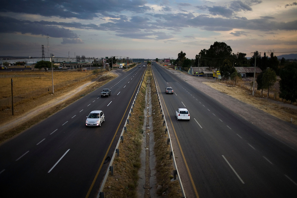 A highway in the north of  Aguascalientes, Mexico on Monday , March 17, 2009.