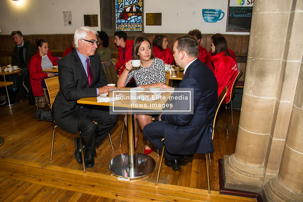 Pictured: <br /> <br /> Scottish Labour leader Kezia Dugdale was joined by Edinburgh South candidate Ian Murray and former Chancellor Alistair Darling.as she served breakfast rolls for Edinburgh based activists before taking on Nicola Sturgeon at First Minister's Questions. <br /> <br /> Ger Harley   EEm 7 June  2017