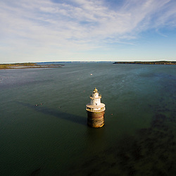 Lubec Channel lighthouse in Lubec Channel in Lubec, Maine.