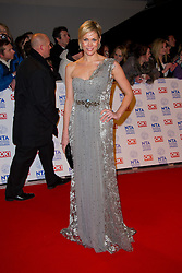 Jenni Falconer arrives at the National Television Awards at the 02 Arena, London Wednesday January 23, 2013. Photo by Chris Joseph / i-Images