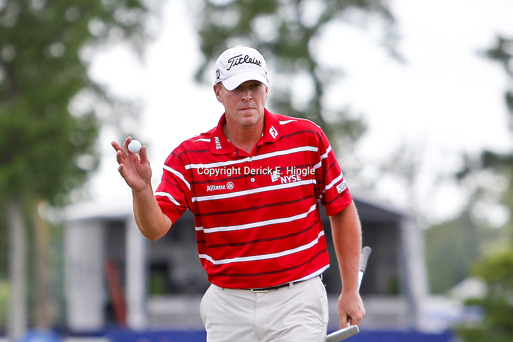 Apr 27, 2012; Avondale, LA, USA; Steve Stricker on the 9th hole during the second round of the Zurich Classic of New Orleans at TPC Louisiana. Mandatory Credit: Derick E. Hingle-US PRESSWIRE