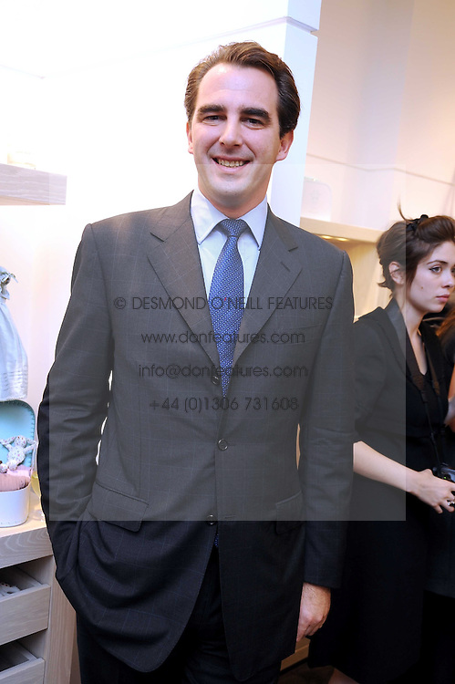 PRINCE NIKOLAOS OF GREECE at a party to celebrate the opening of Pincess Marie-Chantal of Greece's store 'Marie-Chantal' 133A Sloane Street, London on 14th October 2008.