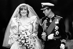 "Embargoed to 0001 Monday August 21 File photo dated 29/07/81 of the Prince and Princess of Wales on their wedding day. Diana, Princess of Wales was a woman whose warmth, compassion and empathy for those she met earned her the description the ""people's princess""."