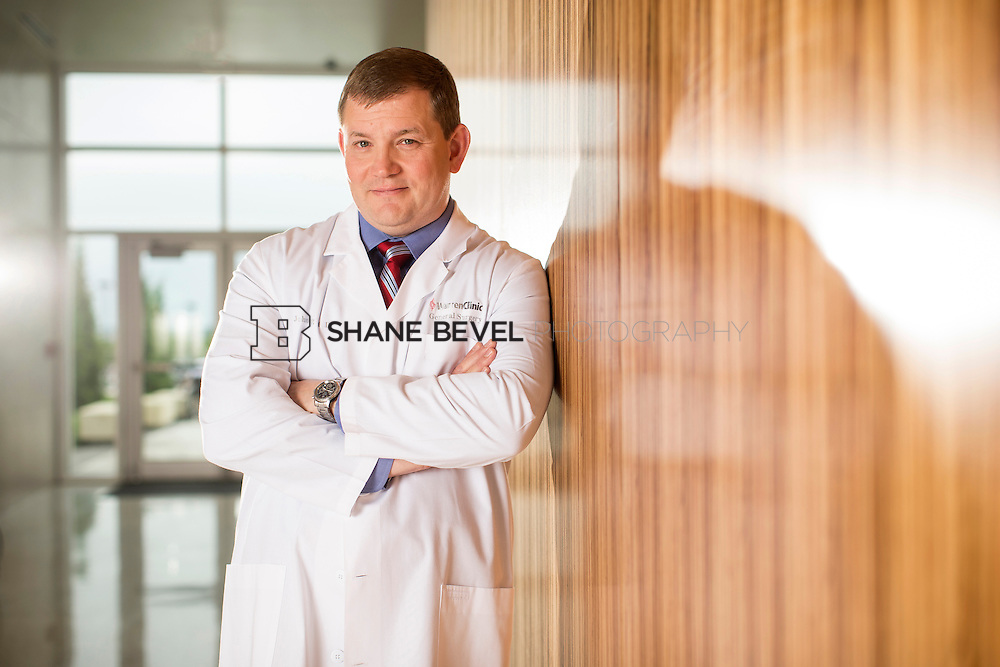 5/13/15 3:45:30 PM -- Dr. John King poses for a portrait in the lobby of the TEC at Saint Francis Hospital<br /> <br /> Photo by Shane Bevel