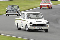 HSCC Gold Cup Oulton Park, Cheshire, United Kingdom.  28th-29th August 2011.  Race 11 HSCC ByBox Historic Touring Cars.  11 Tim Davies - Ford Cortina. World Copyright: Peter Taylor/PSP. Copy of publication required for printed pictures. Every used picture is fee-liable.