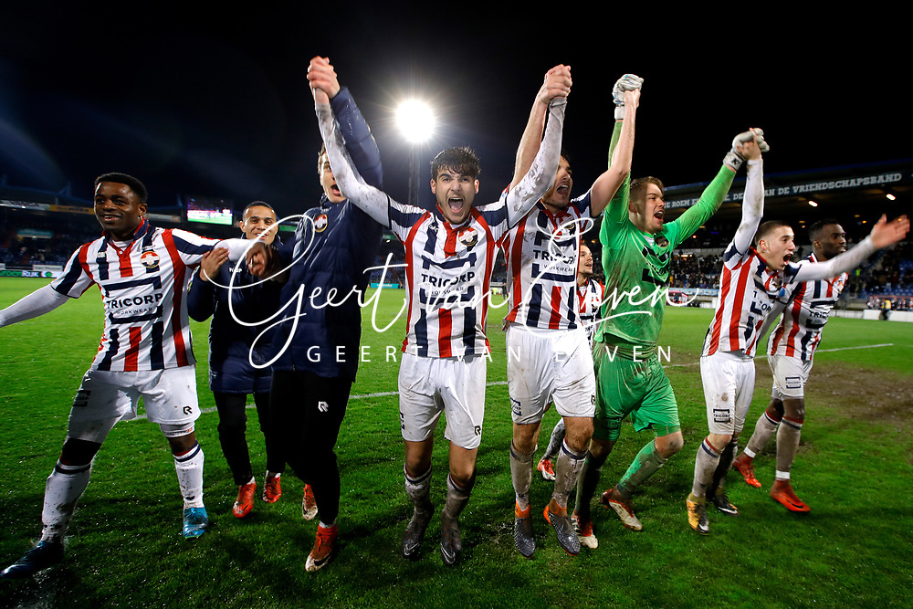 players of Willem II celebrates the victory