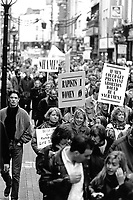 'Right to Choose' demonstration Grafton Street. 22/2/92. (Part of the Independent Newspapers Ireland/NLI Collection)
