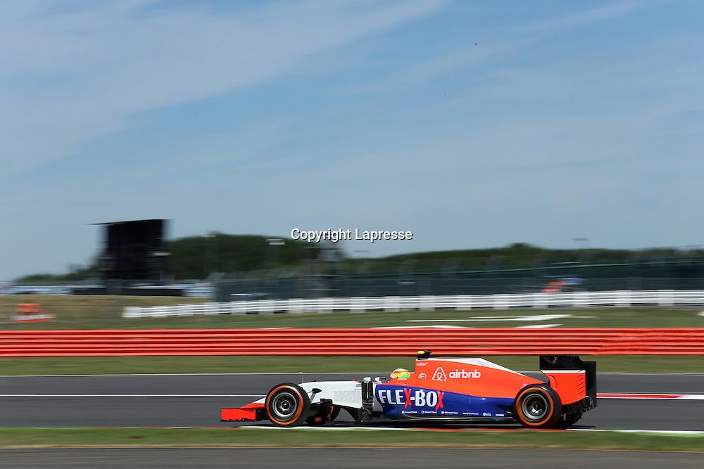 &copy; Photo4 / LaPresse<br /> 03/07/2015 Silverstone, England<br /> Sport <br /> Grand Prix Formula One England 2015<br /> In the pic: Roberto Merhi (ESP) Manor Marussia F1 Team