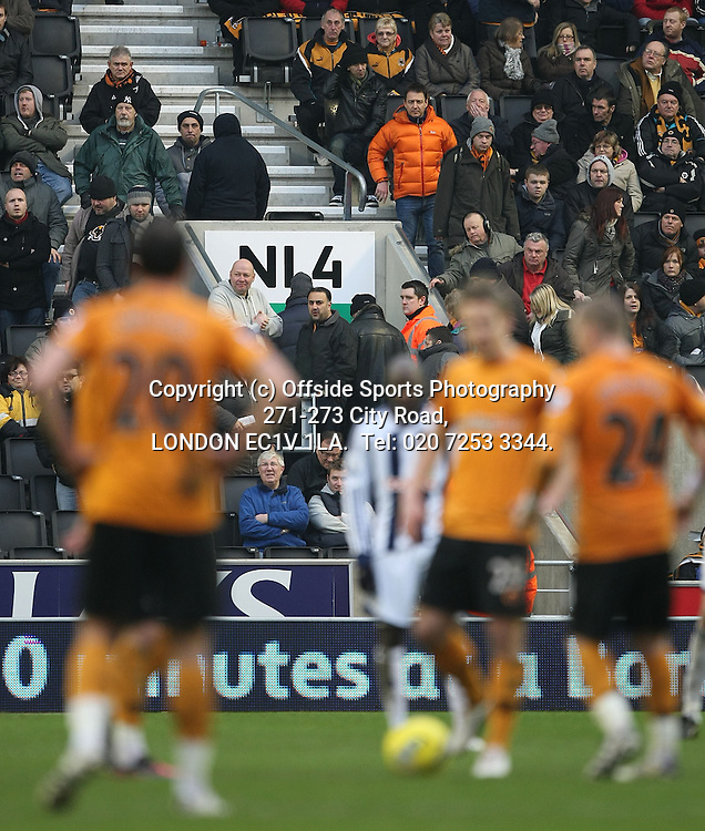 12/02/2012 Wolverhampton Wanderers v West Bromwich Albion.<br /> Wanderers fans make for the exit after the fourth Albion goal.<br /> Photo: Mark Leech.