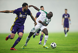 Amir Dervisevic of Maribor vs Mitch Apau of NK Olimpija during football match between NK Maribor and NK Olimpija Ljubljana in 34th Round of Prva liga Telekom Slovenije 2017/18, on May 19, 2018, in Stadion Ljudski vrt, Maribor, Slovenia. Photo by Vid Ponikvar / Sportida