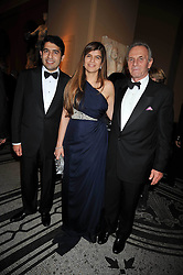 Left to right, CYRUS & PRIYA VANDREVALA and MARK SHAND at a dinner to celebrate the opening of 'Maharaja - The Spendour of India's Royal Courts' an exhbition at the V&A, London on 6th October 2009.