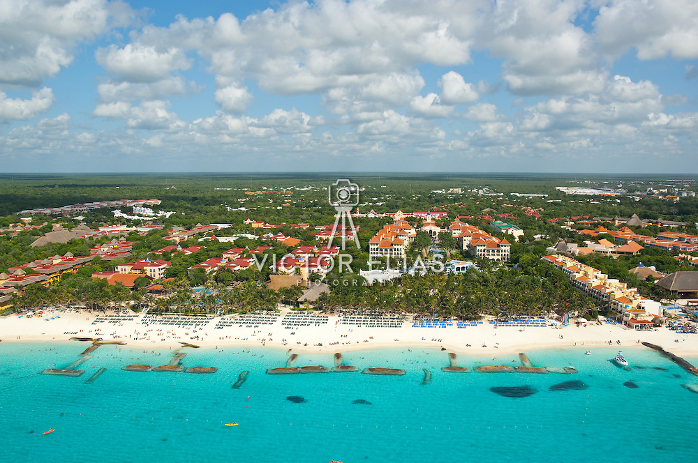 Aerial view of Playacar in Playa del Carmen. Quintana Roo, Mexico.